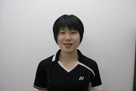 国際大学付属高校女子バドミントン部 小見山彩選手