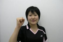 国際大学付属高校バドミントン部鈴木里穂選手